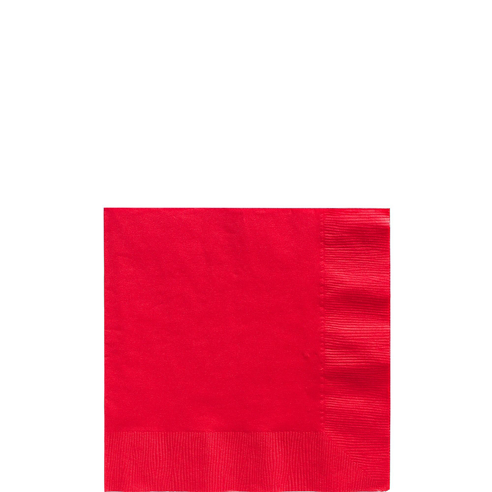 Red Paper Tableware Kit for 100 Guests Image #4