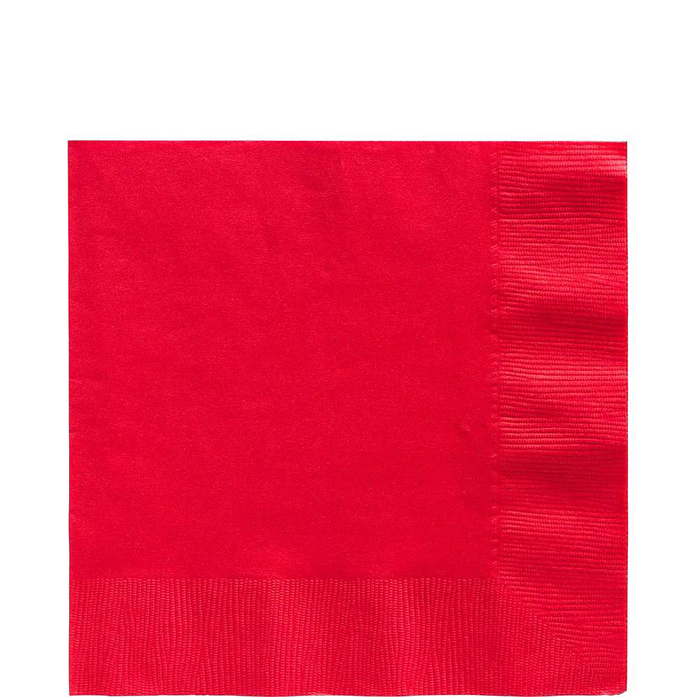 Red Paper Tableware Kit for 100 Guests Image #5