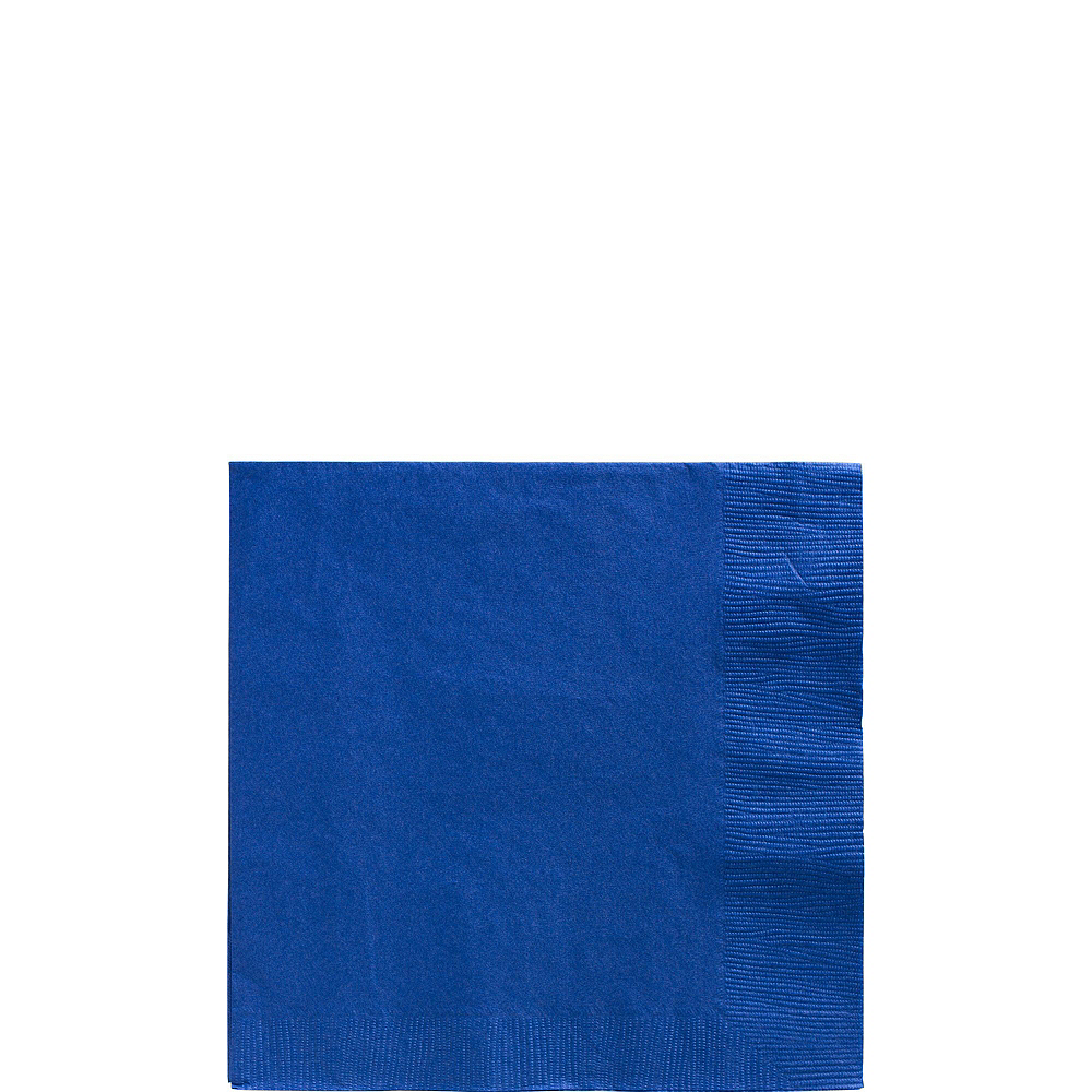 Royal Blue Paper Tableware Kit for 100 Guests Image #4
