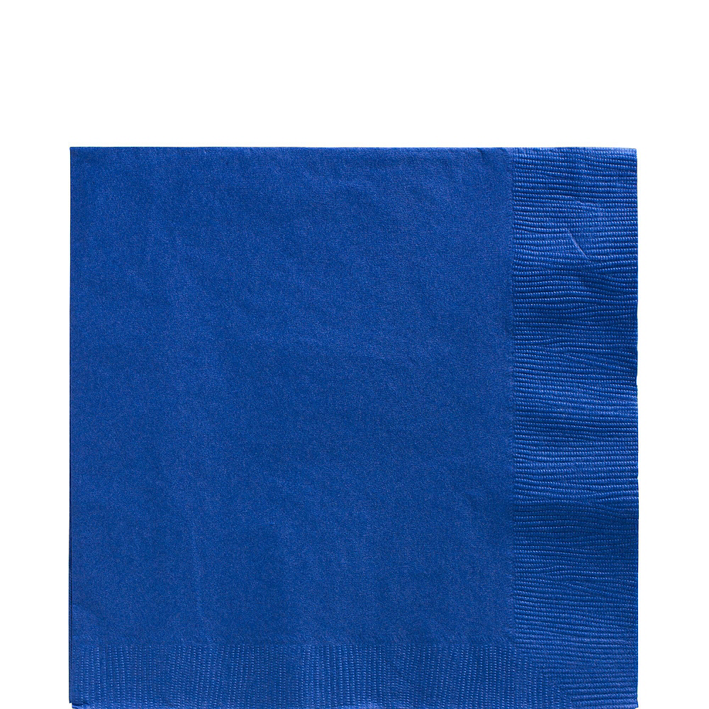 Royal Blue Paper Tableware Kit for 100 Guests Image #5