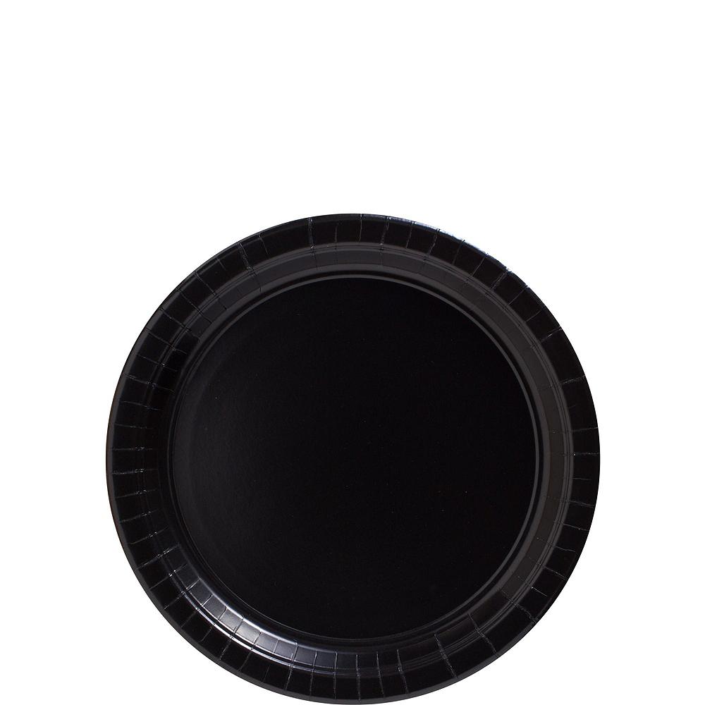 Black Paper Tableware Kit for 100 Guests Image #2