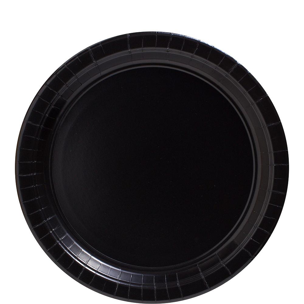 Black Paper Tableware Kit for 100 Guests Image #3