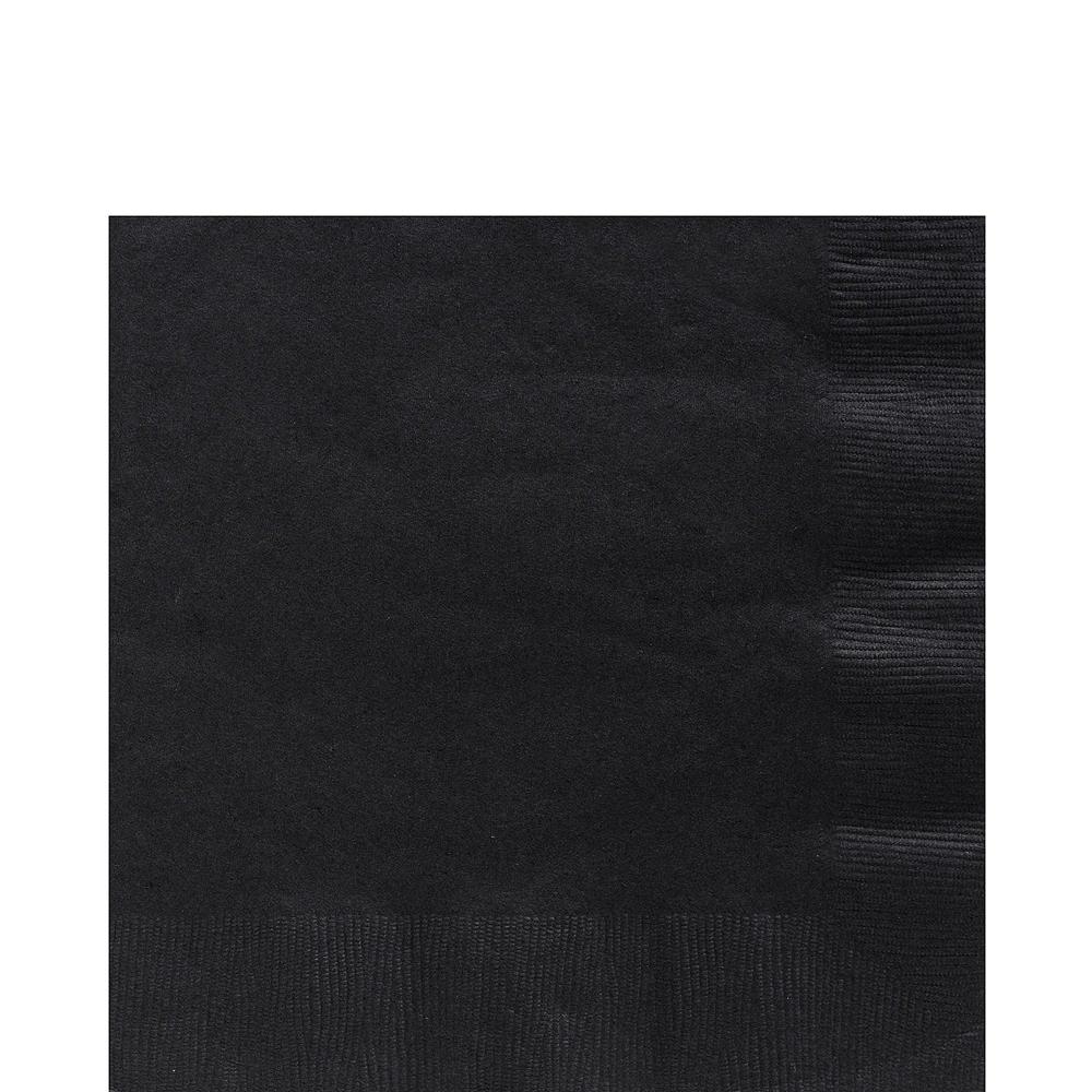 Black Paper Tableware Kit for 100 Guests Image #5