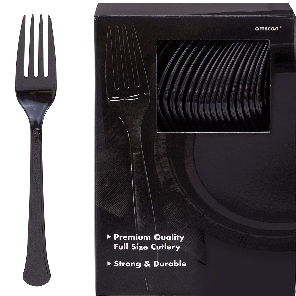 Black Paper Tableware Kit for 100 Guests Image #8