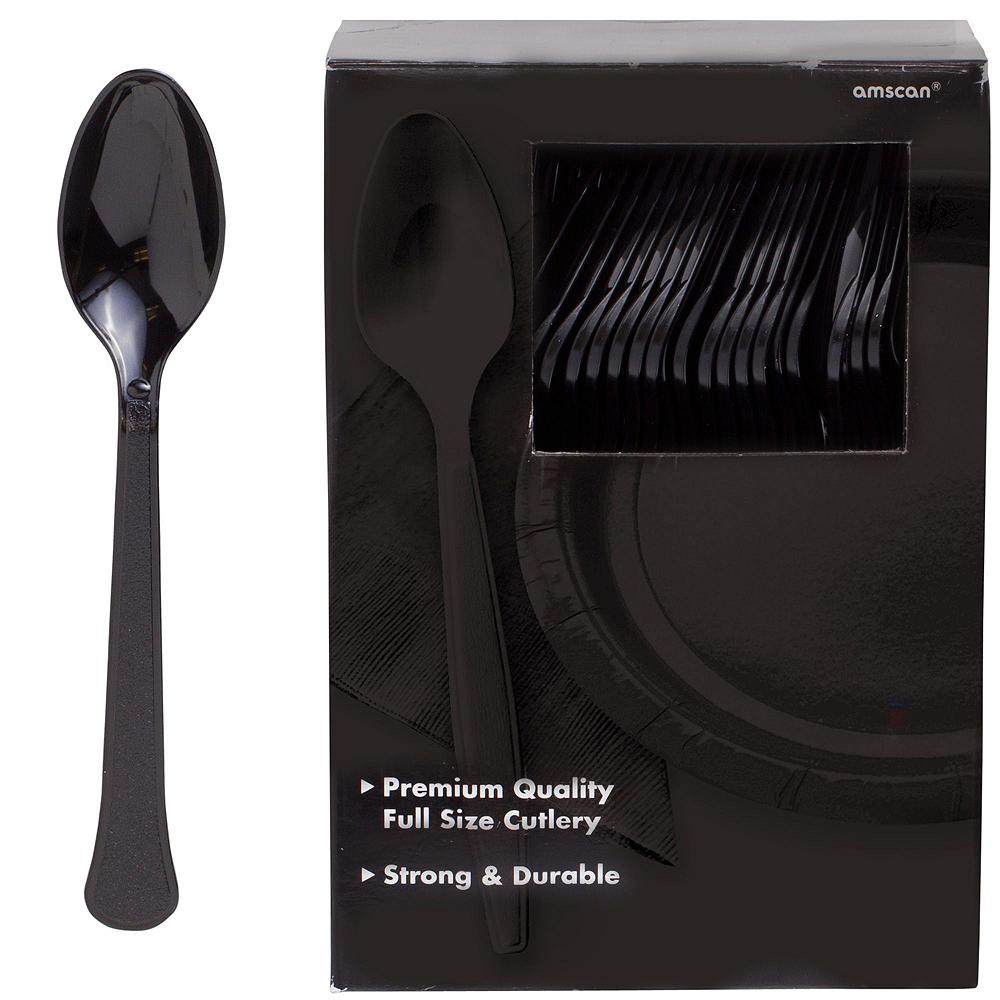 Black Paper Tableware Kit for 100 Guests Image #9