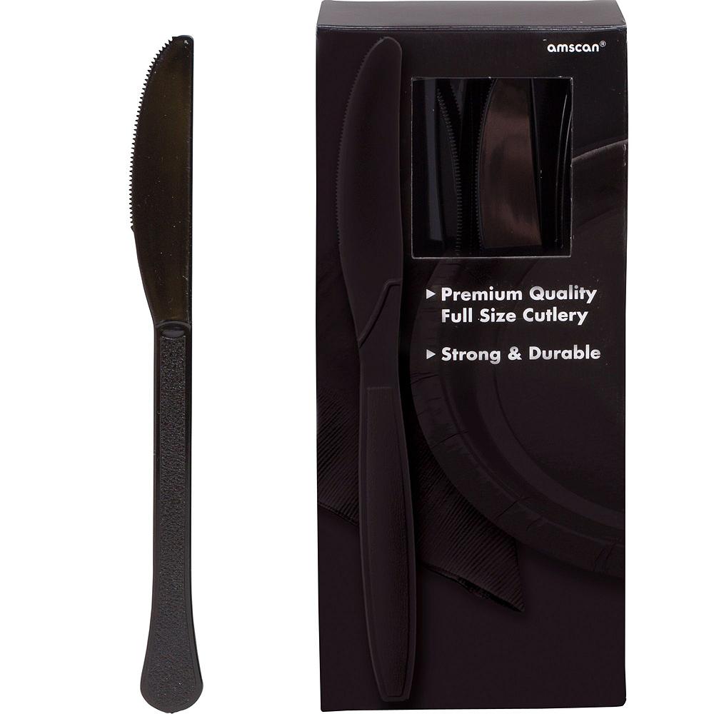 Black Paper Tableware Kit for 100 Guests Image #10