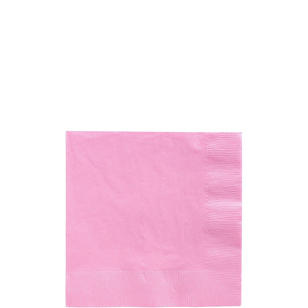 New Pink Paper Tableware Kit for 100 Guests Image #4