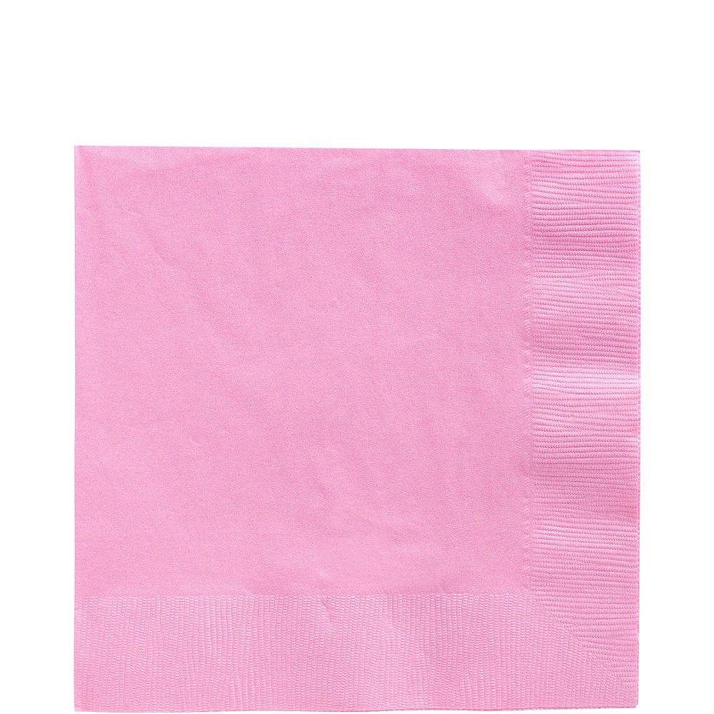 New Pink Paper Tableware Kit for 100 Guests Image #5