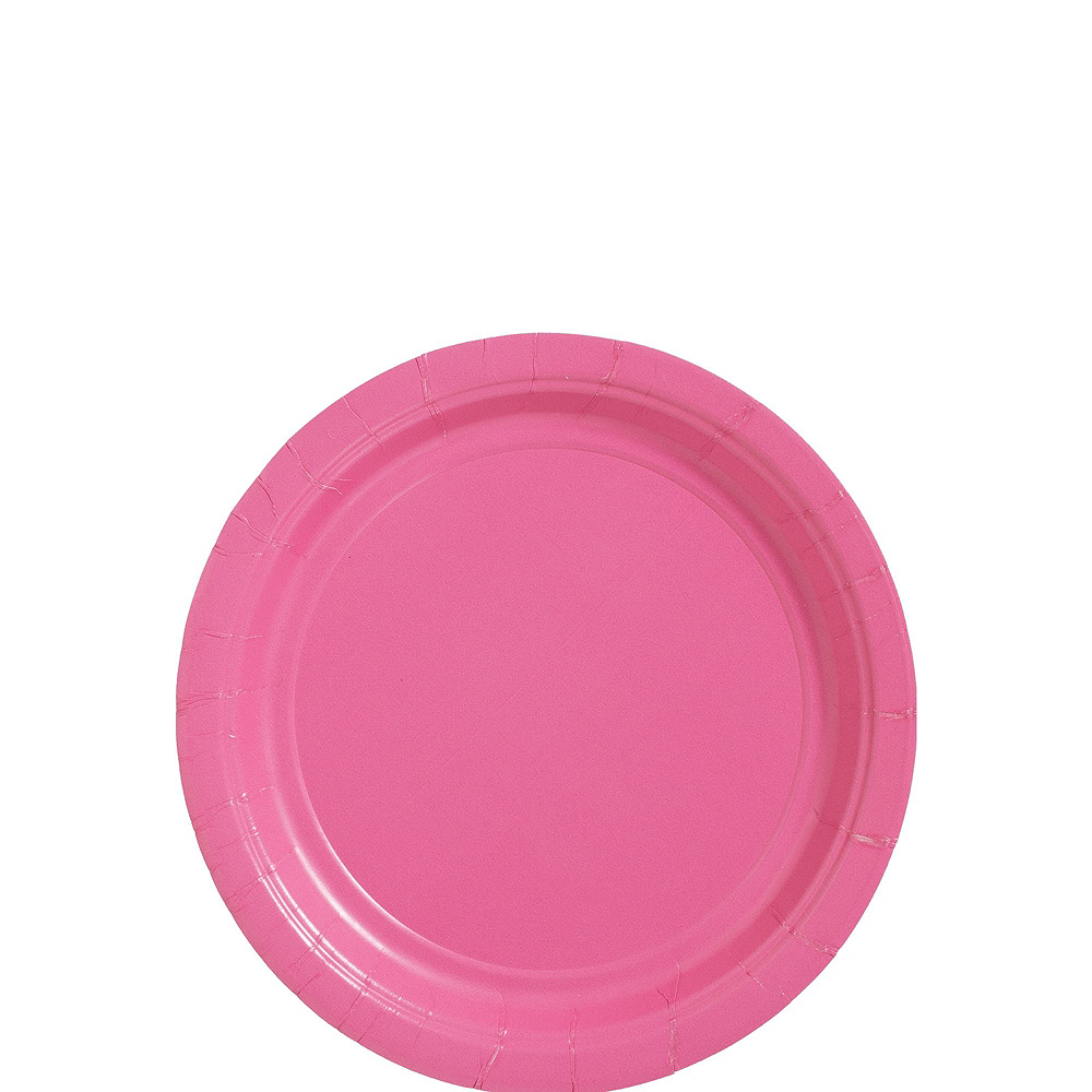 Bright Pink Paper Tableware Kit for 100 Guests Image #2