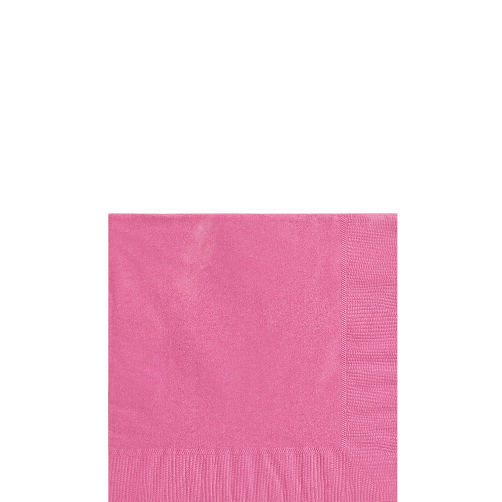 Bright Pink Paper Tableware Kit for 100 Guests Image #4