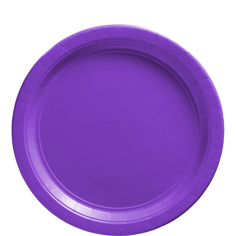 Purple Paper Tableware Kit for 100 Guests Image #3