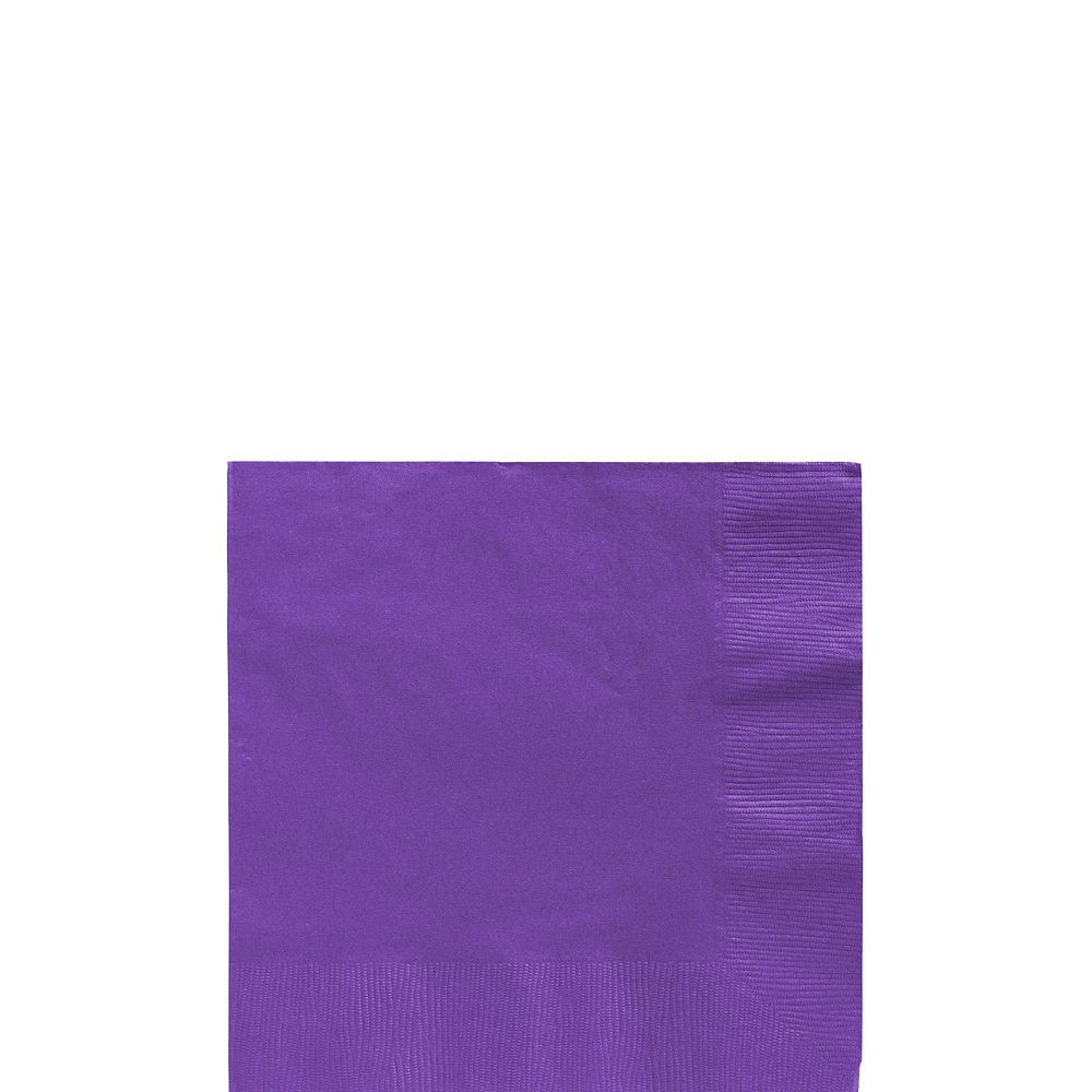 Purple Paper Tableware Kit for 100 Guests Image #4