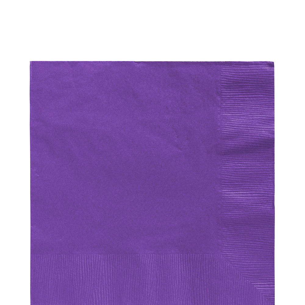 Purple Paper Tableware Kit for 100 Guests Image #5