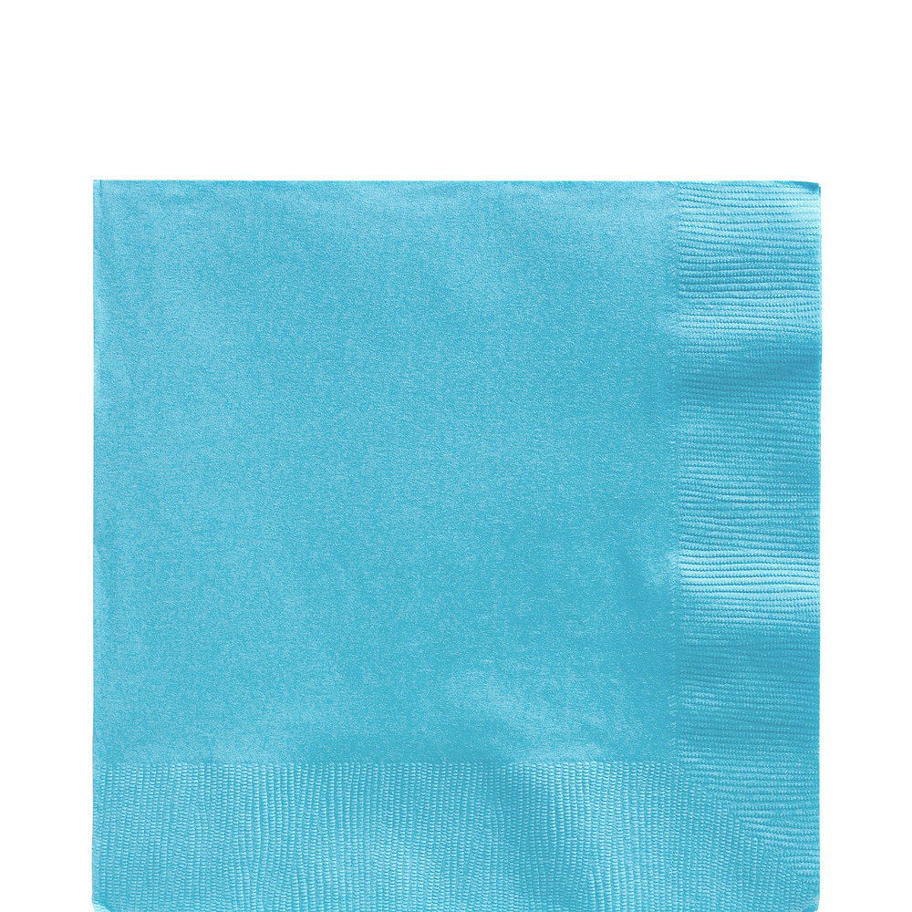 Caribbean Blue Paper Tableware Kit for 100 Guests Image #5