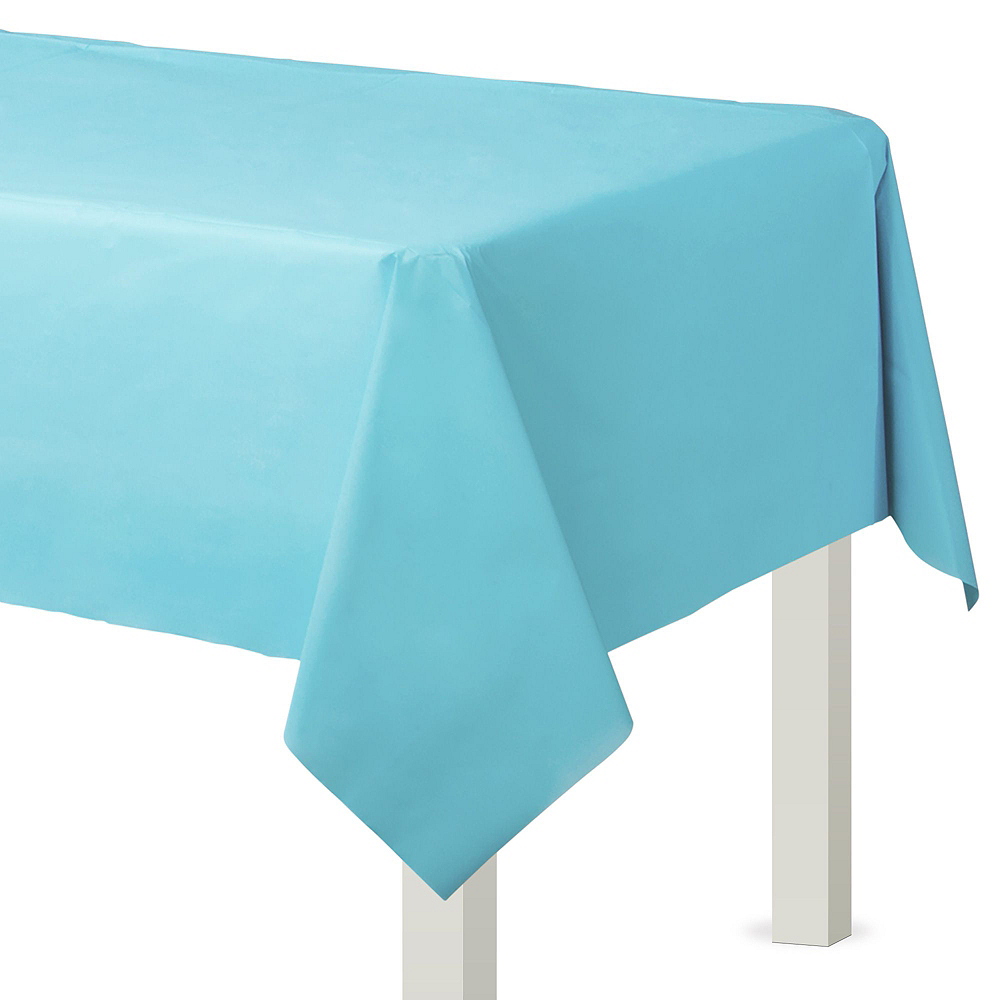 Caribbean Blue Paper Tableware Kit for 100 Guests Image #7