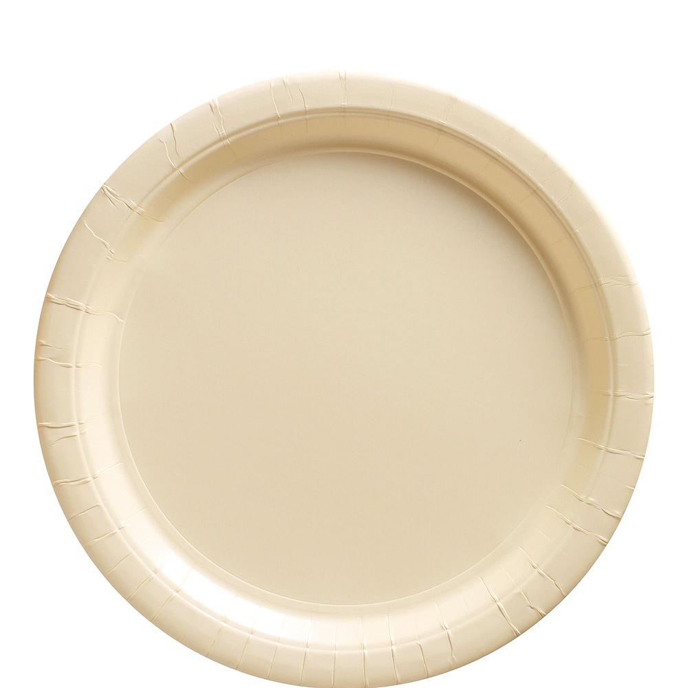Vanilla Cream Paper Tableware Kit for 100 Guests Image #3
