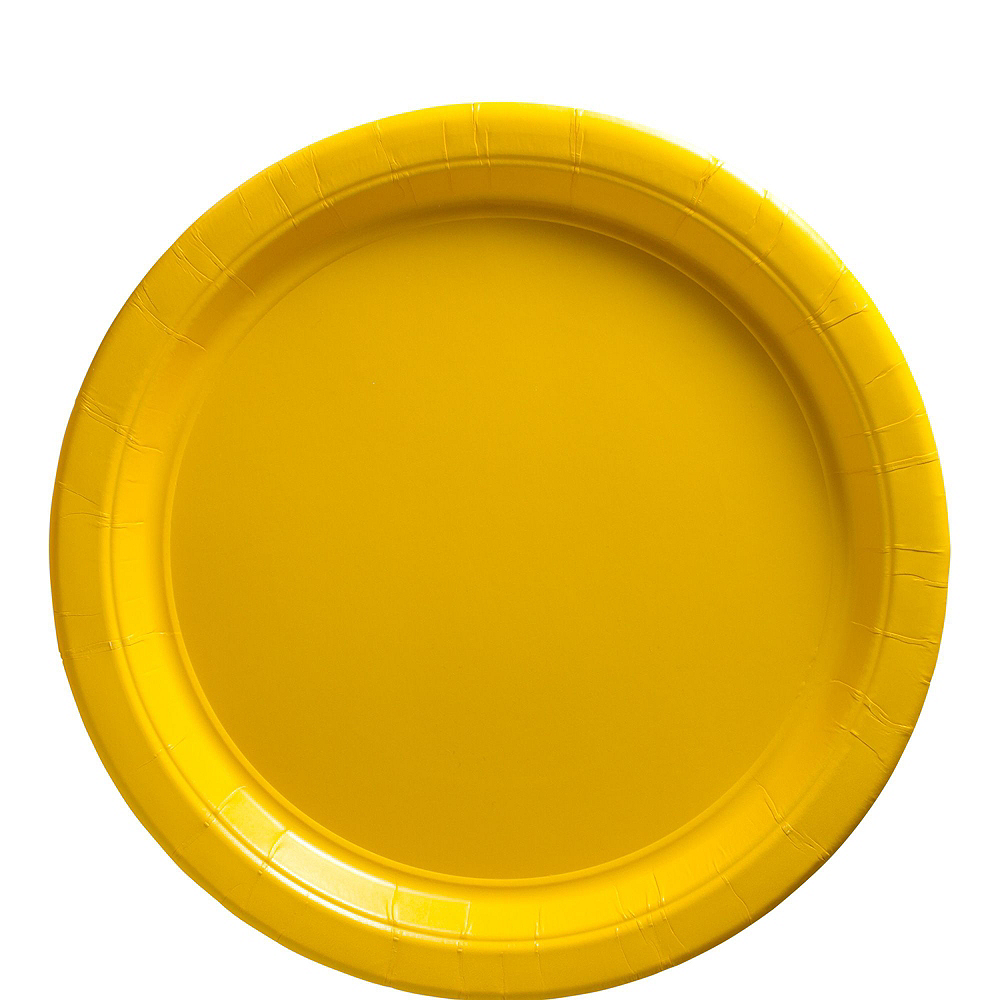Sunshine Yellow Paper Tableware Kit for 100 Guests Image #3