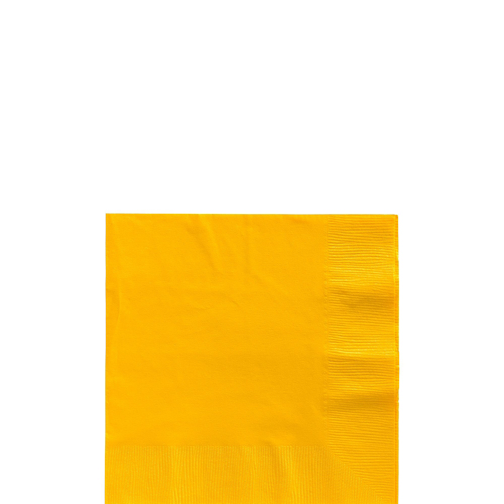 Sunshine Yellow Paper Tableware Kit for 100 Guests Image #4