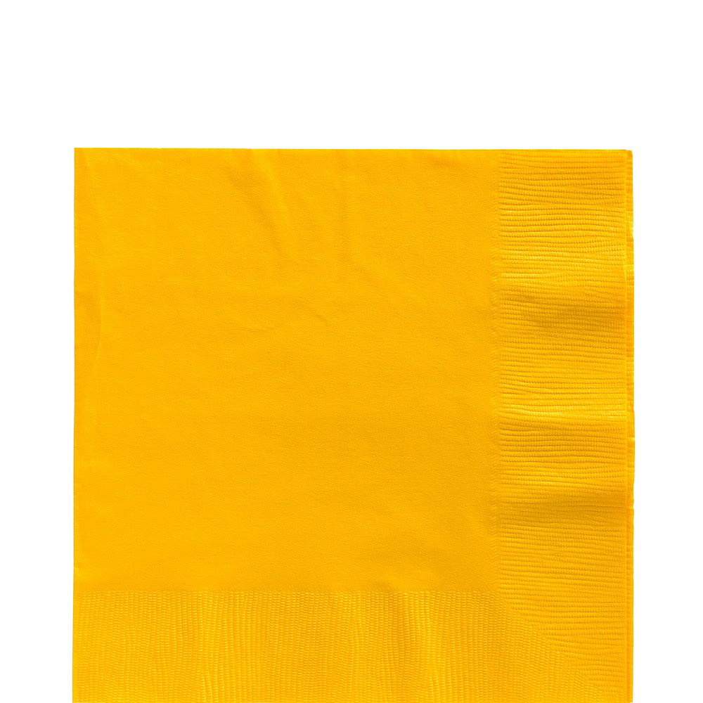 Sunshine Yellow Paper Tableware Kit for 100 Guests Image #5