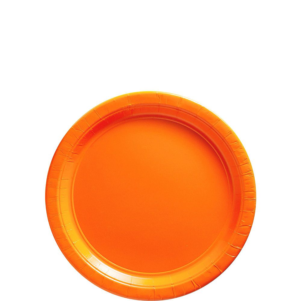 Orange Paper Tableware Kit for 100 Guests Image #2