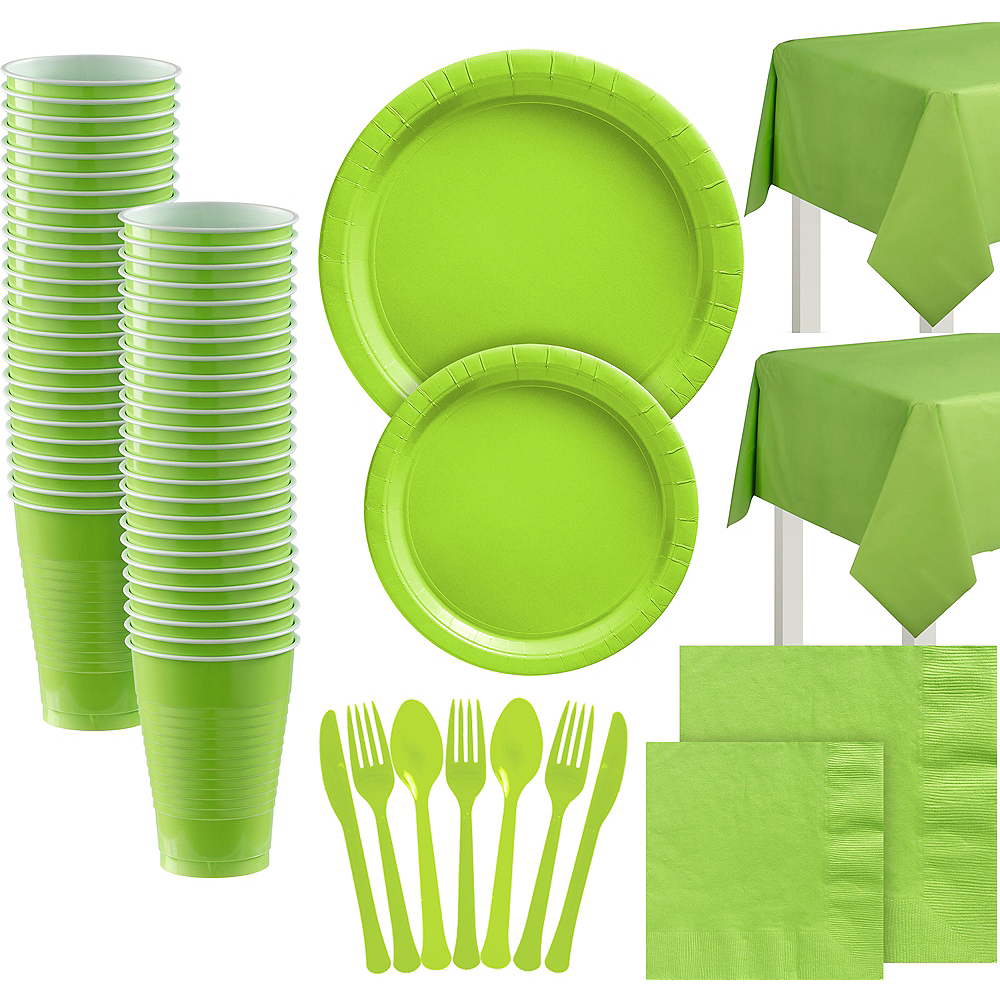 Kiwi Paper Tableware Kit for 100 Guests Image #1