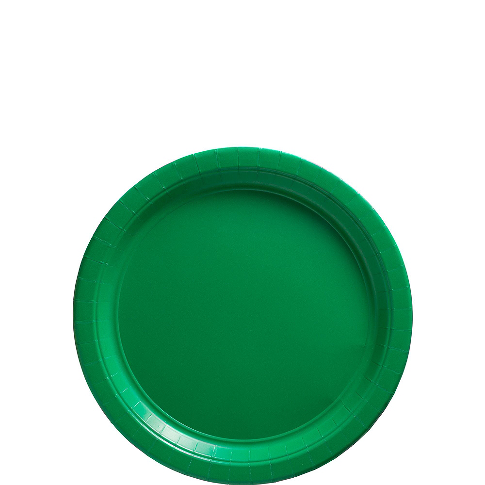 Festive Green Paper Tableware Kit for 100 Guests Image #2