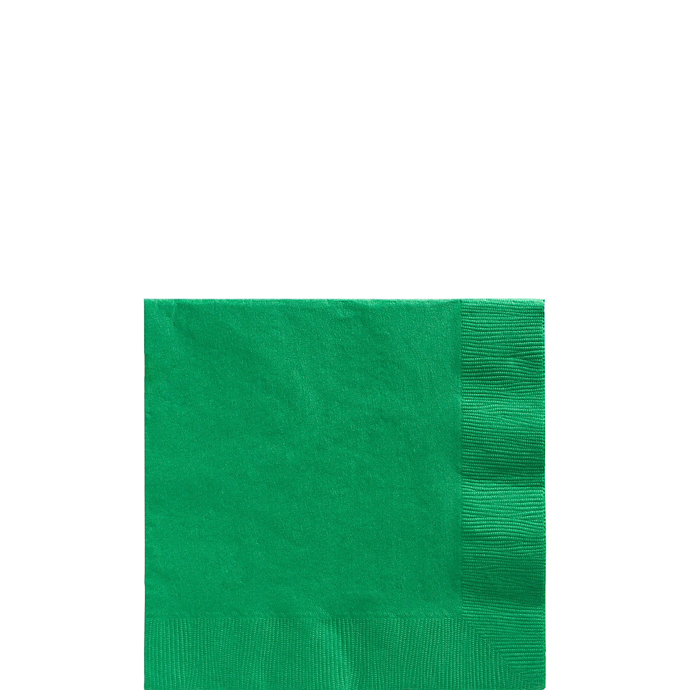 Festive Green Paper Tableware Kit for 100 Guests Image #4