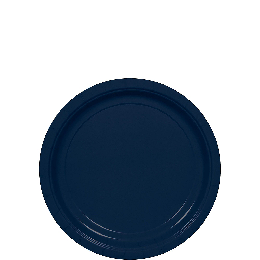 True Navy Paper Tableware Kit for 100 Guests Image #2
