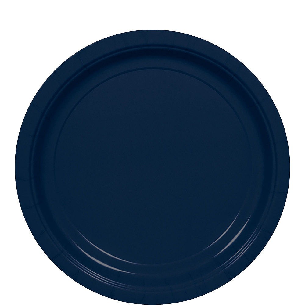 True Navy Paper Tableware Kit for 100 Guests Image #3