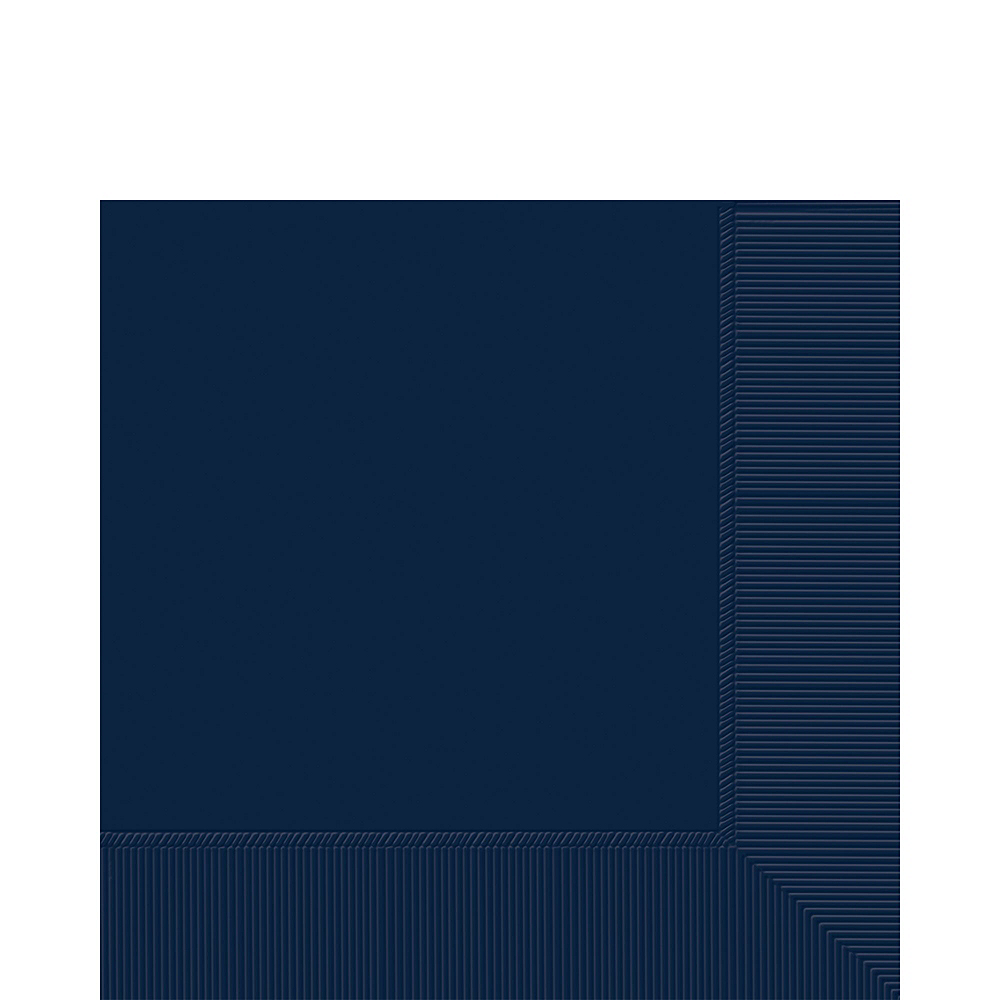 True Navy Paper Tableware Kit for 100 Guests Image #5