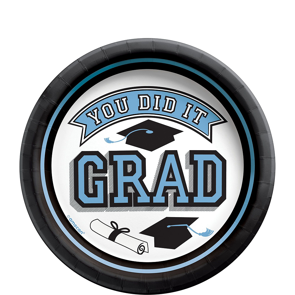 Nav Item for Congrats Grad Pastel Blue Graduation Party Kit for 100 Guests Image #2