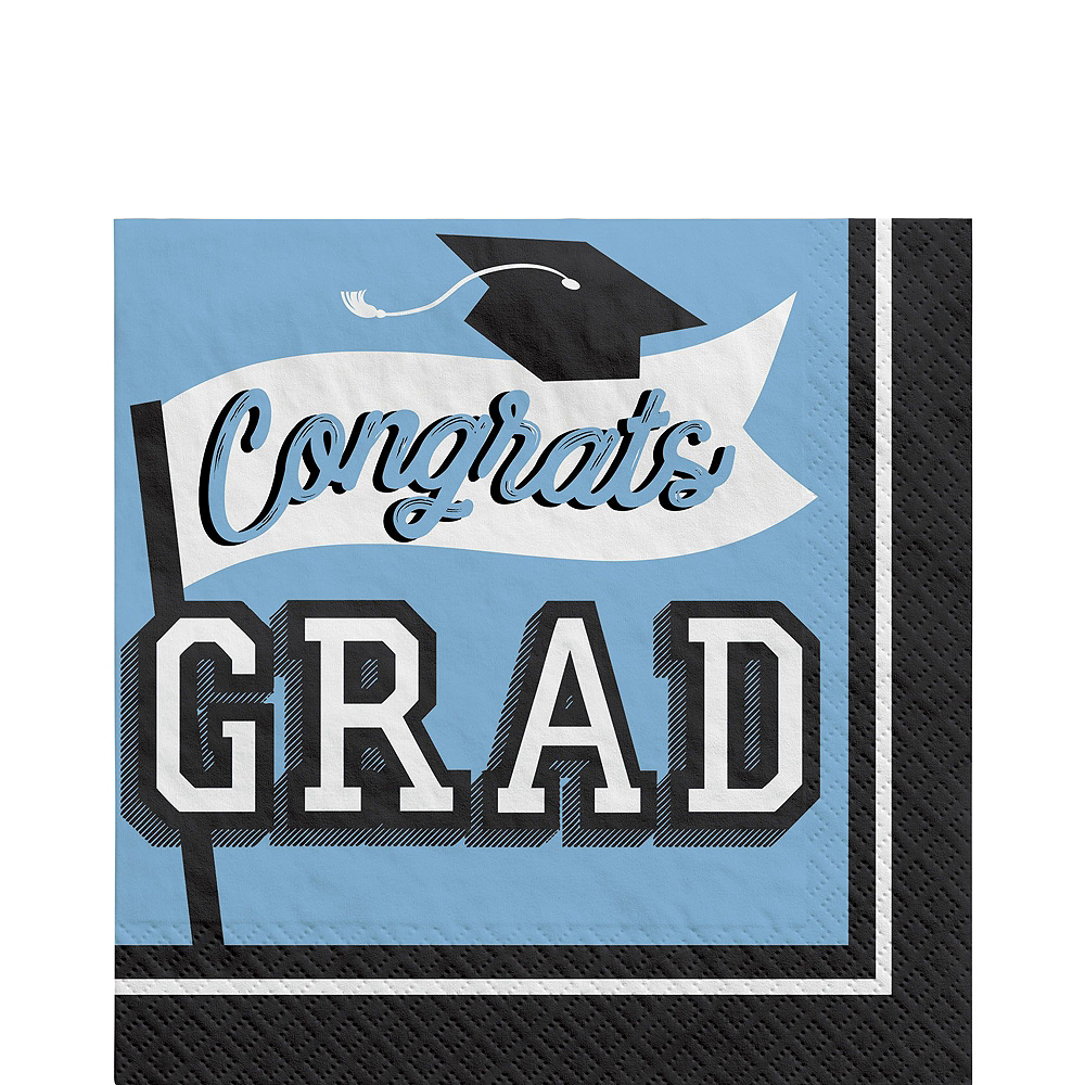 Nav Item for Congrats Grad Pastel Blue Graduation Party Kit for 100 Guests Image #5