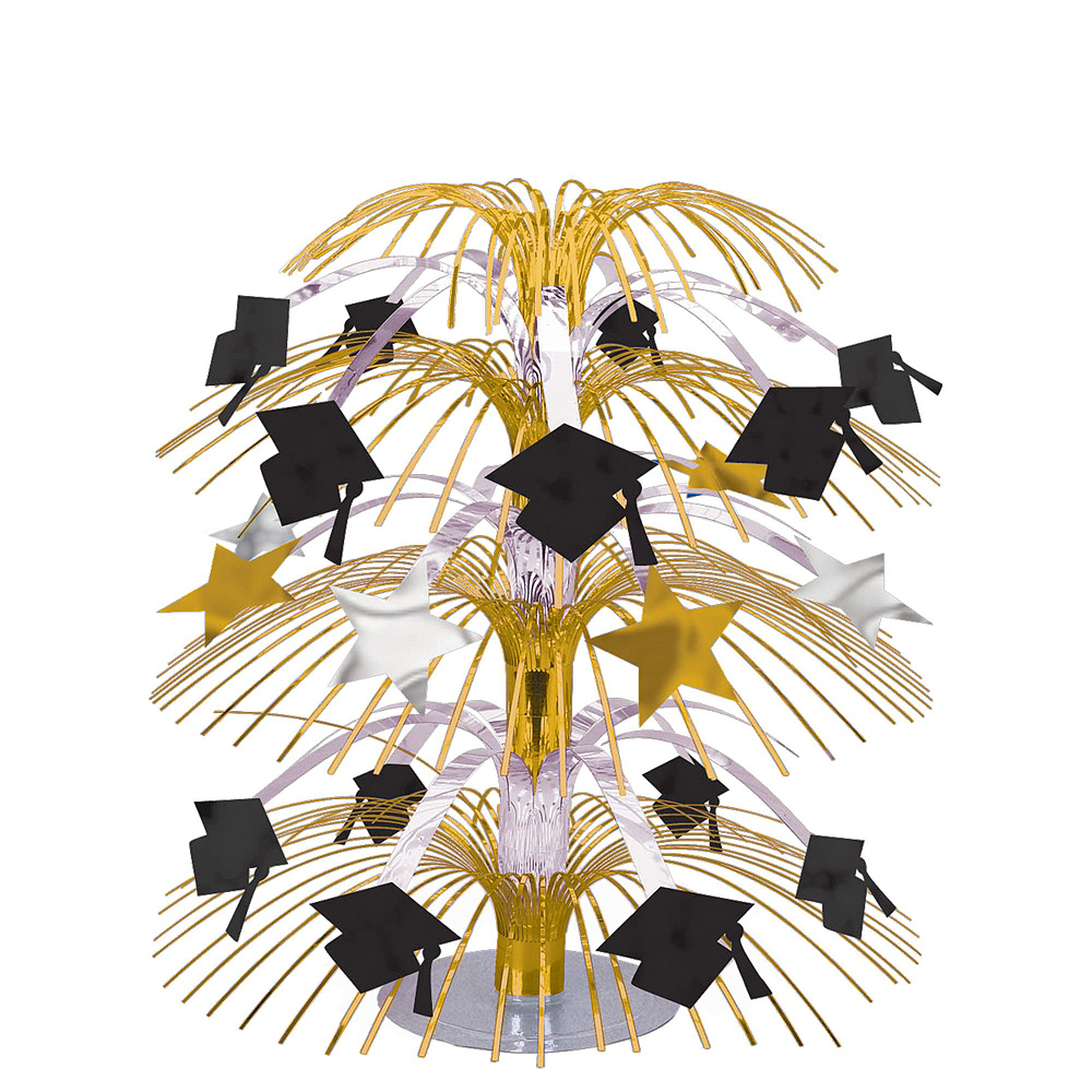 Congrats Grad Gold Graduation Party Kit for 100 Guests Image #9