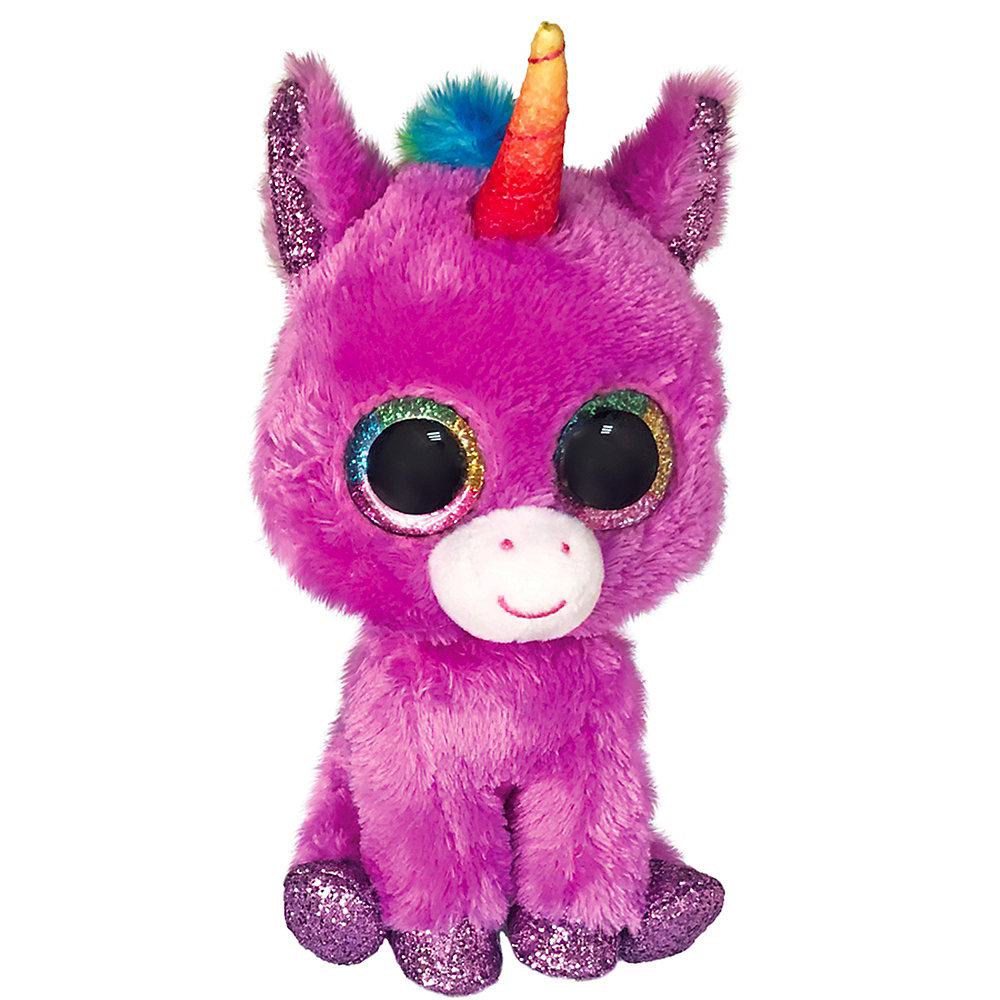 Rosette Beanie Boos Purple Unicorn Plush Image #1