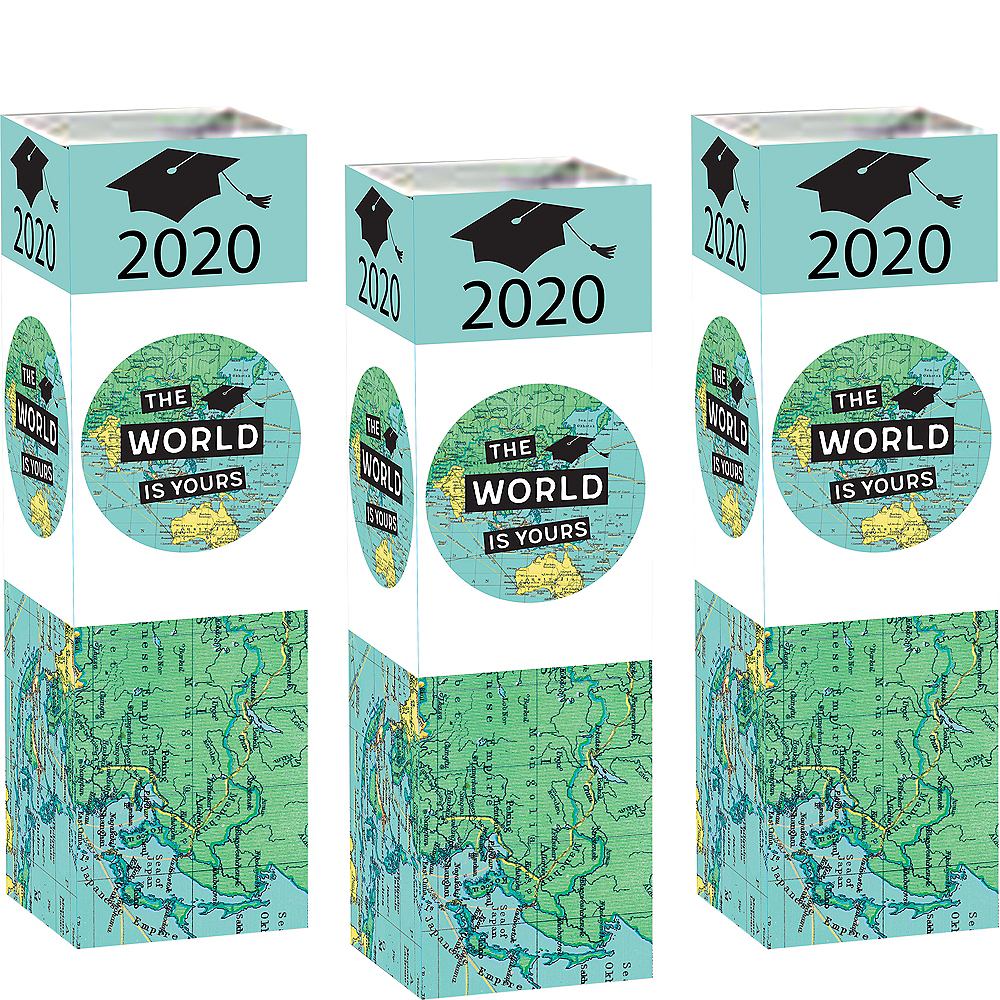 The World Awaits Graduation Cardstock Centerpieces 6ct Image #1