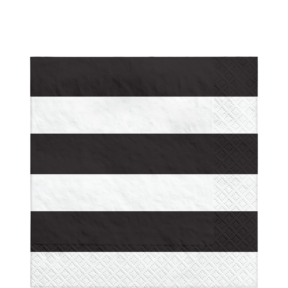 Black Striped Tableware Kit for 16 Guests Image #5