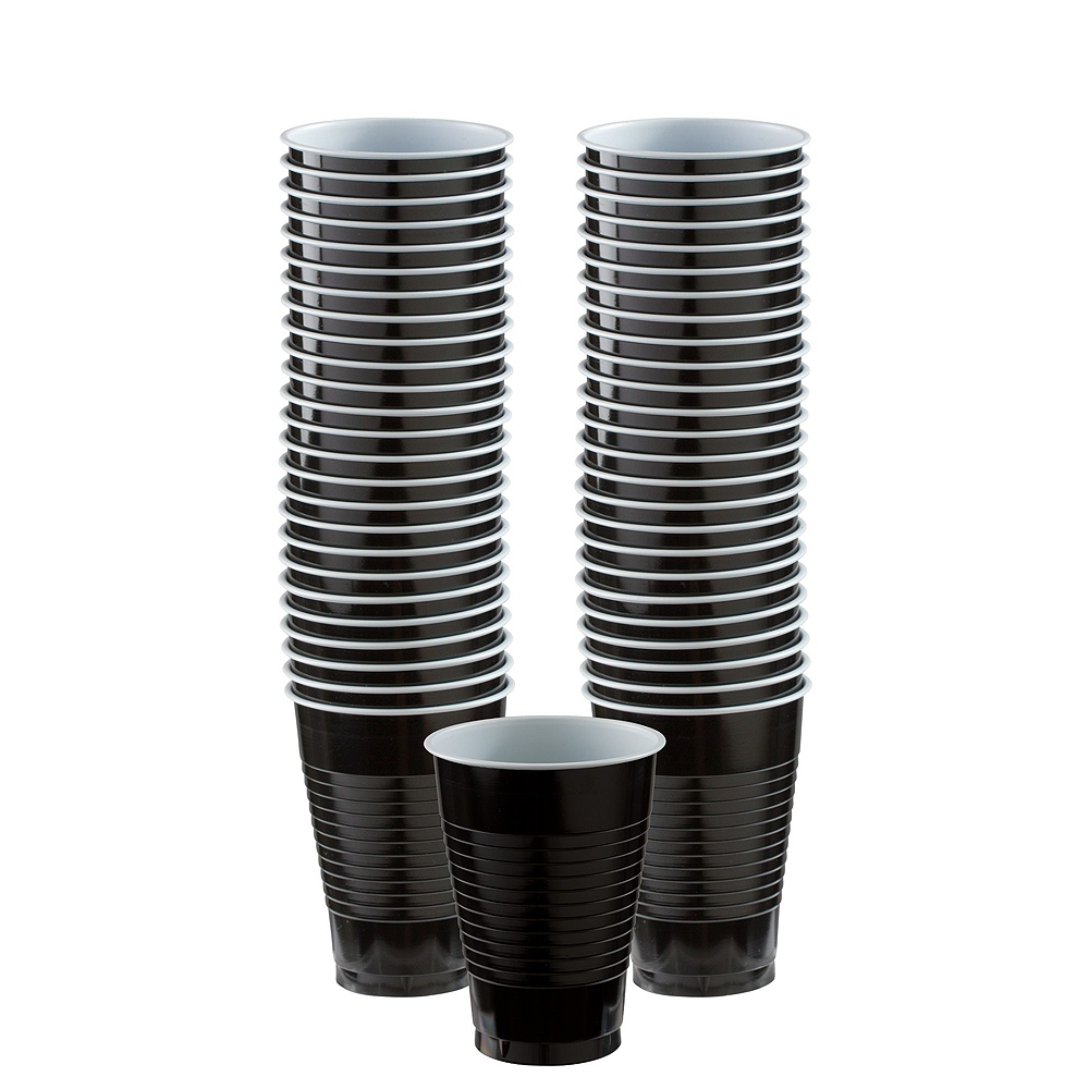 Black Striped Tableware Kit for 16 Guests Image #6