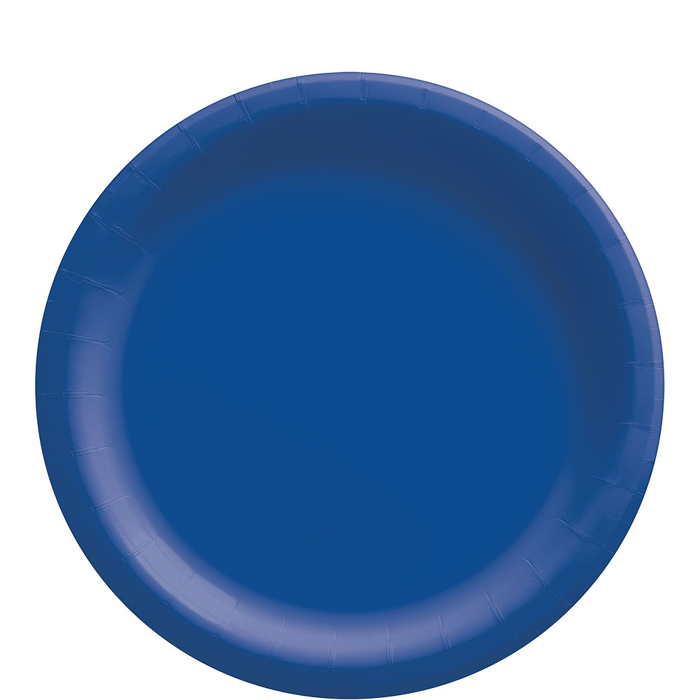 Royal Blue Striped Tableware Kit for 16 Guests Image #3