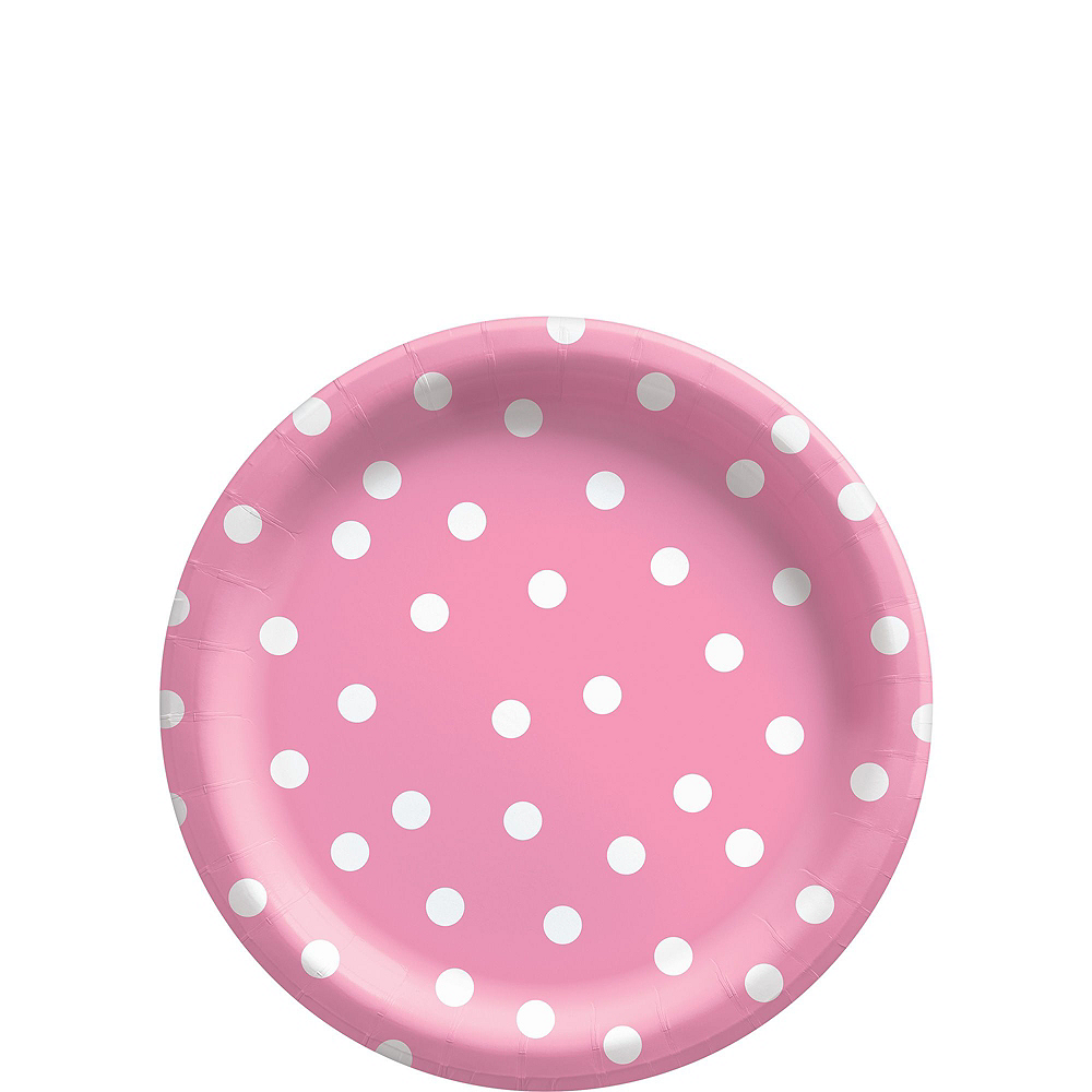 Pink Confetti Dot Tableware Kit for 16 Guests Image #2