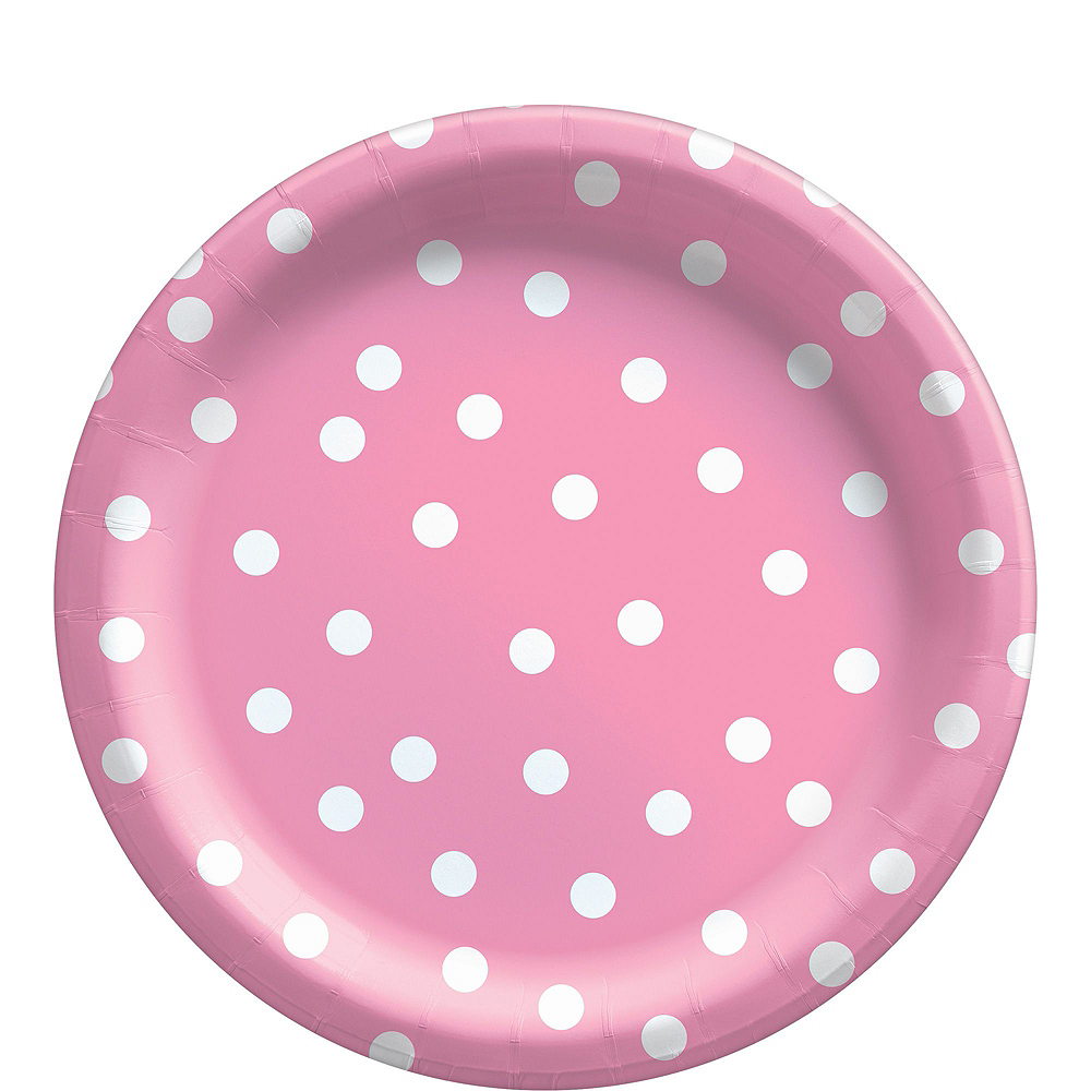 Pink Confetti Dot Tableware Kit for 16 Guests Image #3