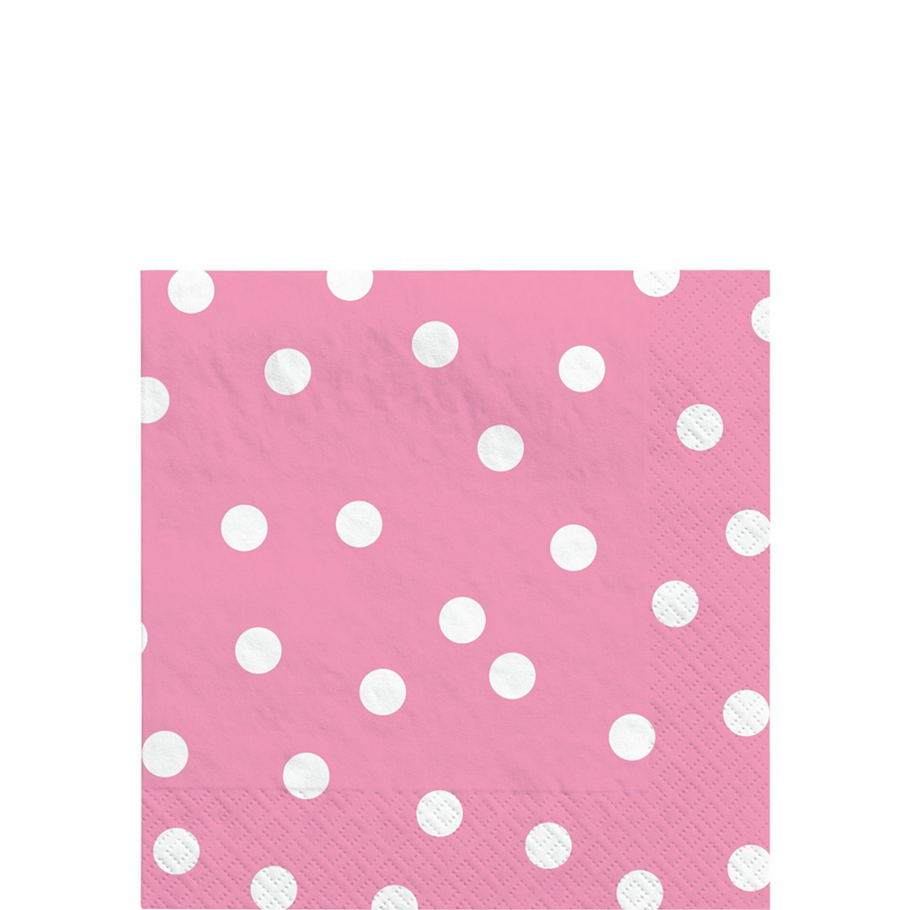 Pink Confetti Dot Tableware Kit for 16 Guests Image #4