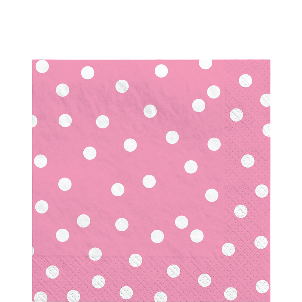 Pink Confetti Dot Tableware Kit for 16 Guests Image #5