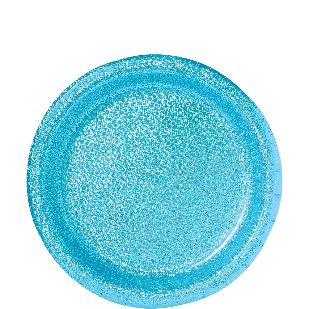 Prismatic Caribbean Blue Tableware Kit for 16 Guests Image #3
