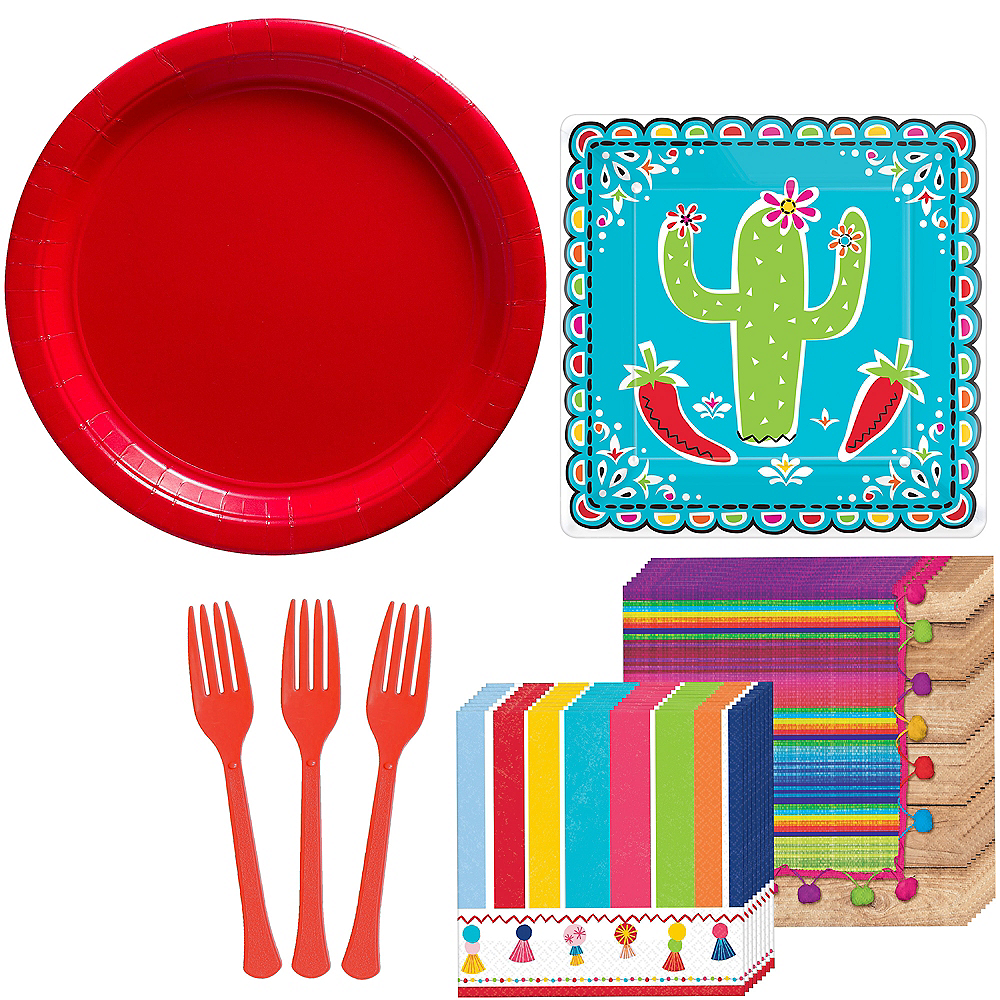 Cinco De Mayo Tableware Kit for 16 Guests Image #1