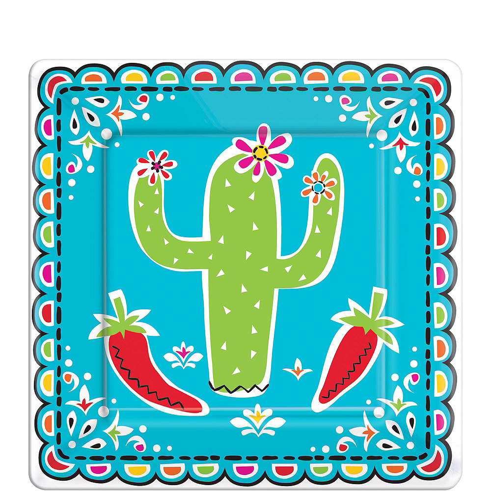 Cinco De Mayo Tableware Kit for 16 Guests Image #2