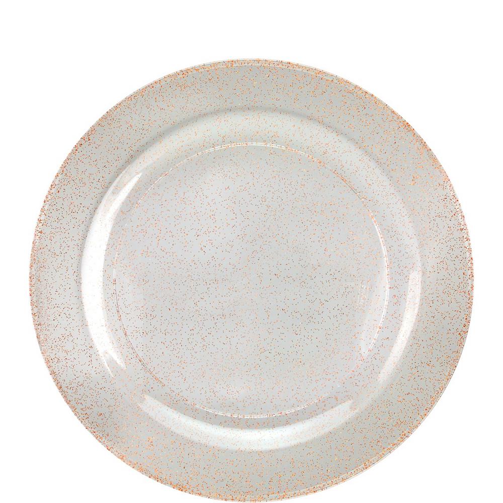 Premium Glitter Rose-Gold & White Tableware Kit 20 Guests Image #2