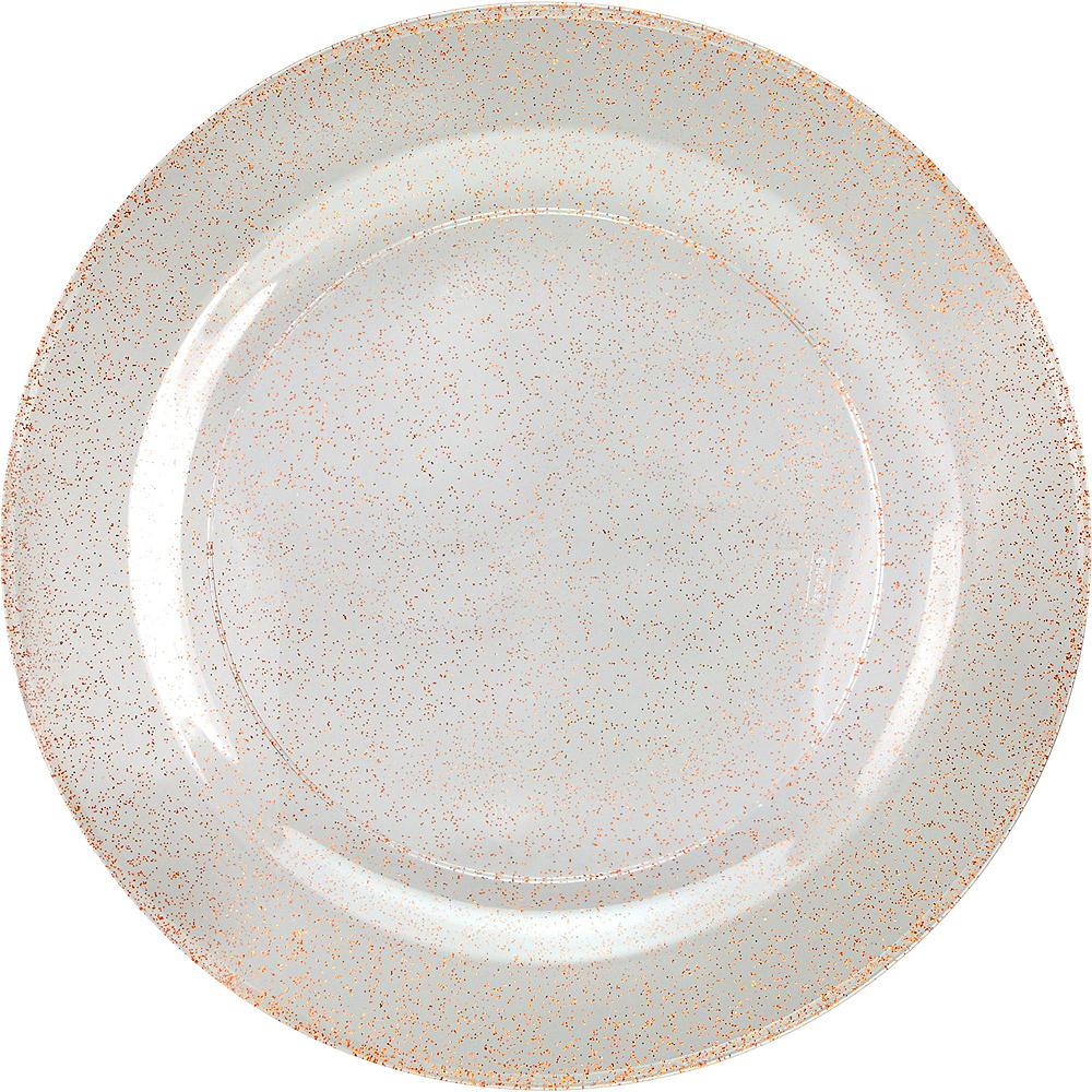 Premium Glitter Rose-Gold & White Tableware Kit 20 Guests Image #3