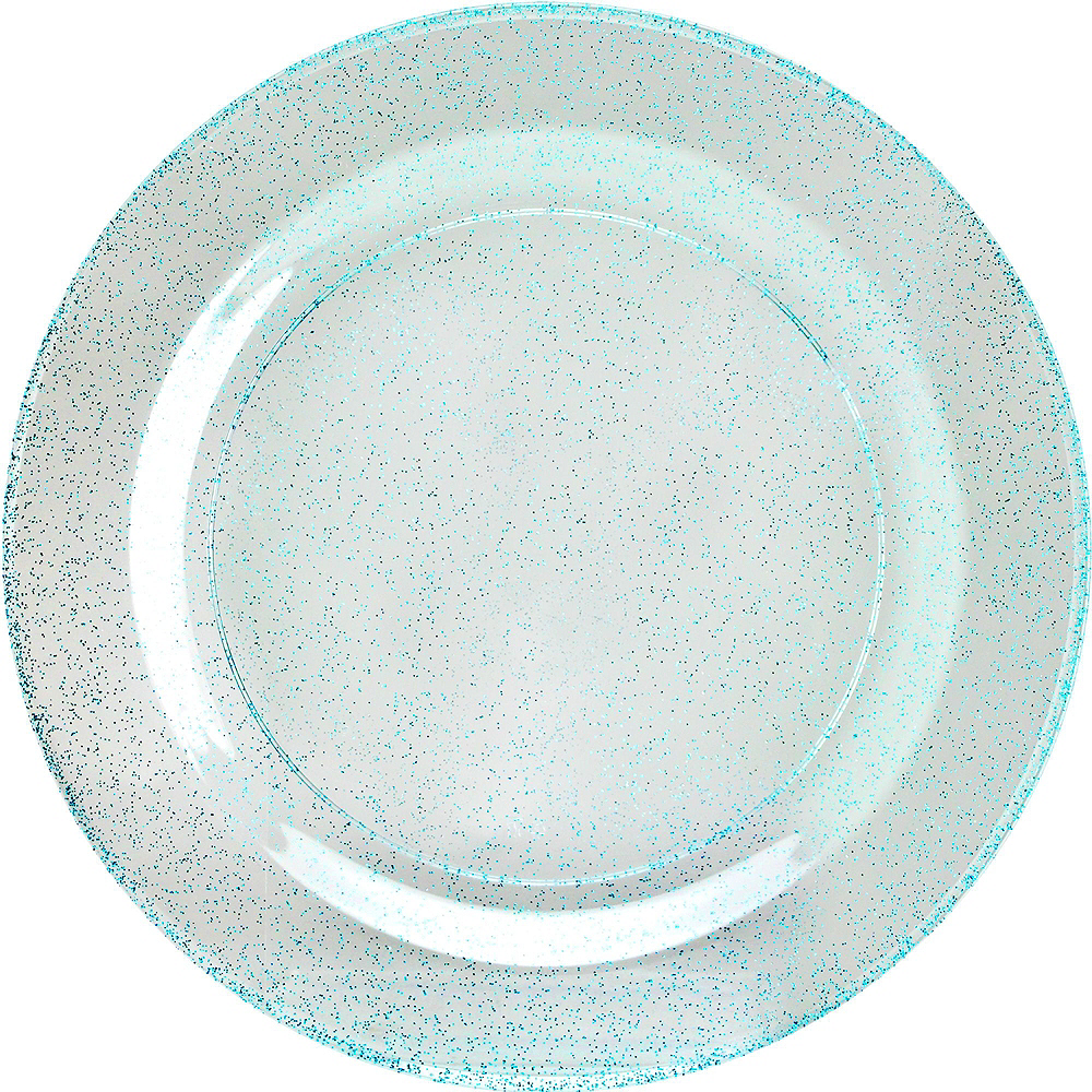 Premium Glitter Blue & White Tableware Kit for 20 Guests Image #2