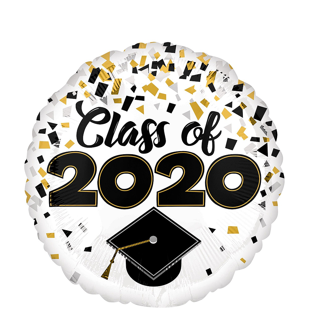 Class of 2020 Graduation Cap Balloon Bouquet Kit with Autograph Dog Image #4