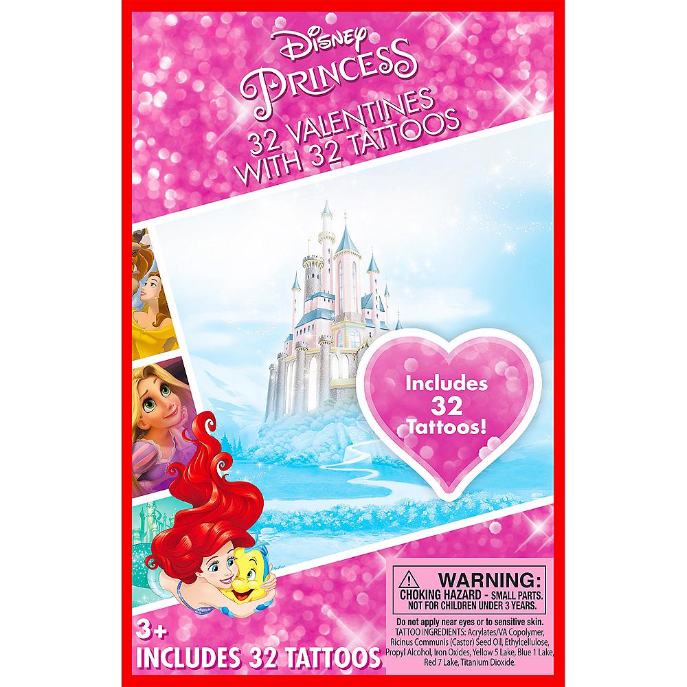 disney princess valentine exchange cards with tattoos 32ct